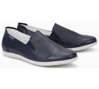 Mephisto Korie leather slip-on shoes for women blue