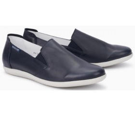 Mephisto Korie leather slip-on shoes for women blue