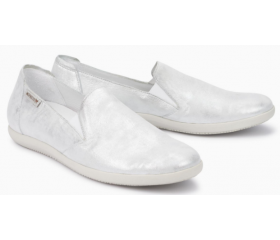 Mephisto Korie leather slip-on shoes for women silver