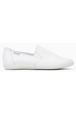Mephisto Korie leather slip-on shoes for women white