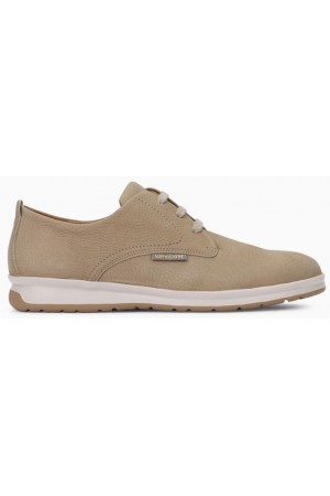 Mephisto Lester leather lace up shoes for men sand