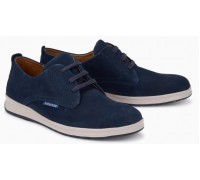 Mephisto Lester leather lace up shoes for men blue