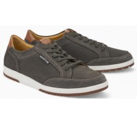 Mephisto Ludo Sportbuck grey leather lace shoes for men