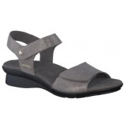 Mephisto Pattie grey leather sandals for women