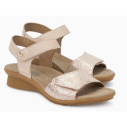 Mephisto Pattie pink leather sandals for women