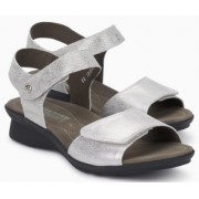 Mephisto Pattie silver leather sandals for women