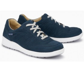 Mephisto Rebeca leather sneakers for women blue