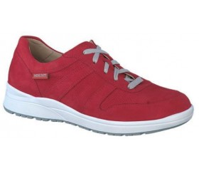 Mephisto Rebeca leather sneakers for women red
