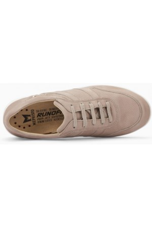 Mephisto Rebeca leather sneakers for women light taupe