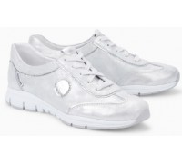 Mephisto Yael leather laceshoe for women silver