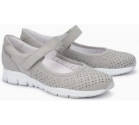 Mephisto Yelina Perf leather ballet pumps for women grey