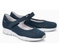Mephisto Yelina Perf leather ballet pumps for women blue