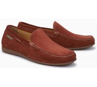 Mephisto Algoras rust leather slip-on shoe for men