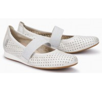 Mephisto Billie Perf leather ballet pumps for women white