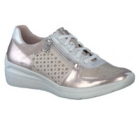 Mephisto Carole leather laceshoe for women platinum