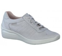 Mephisto Chris Perf leather laceshoe for women grey