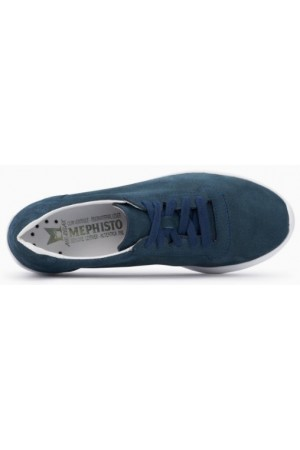 Mephisto Chris Perf leather laceshoe for women blue