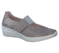 Mephisto Coleta leather ballet pumps for women taupe
