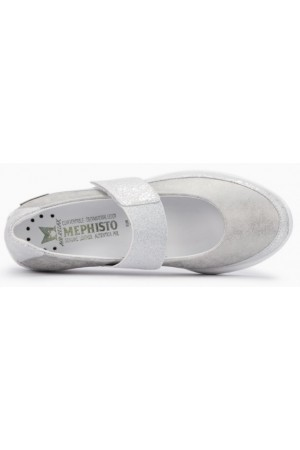 Mephisto Coleta leather ballet pumps for women silver