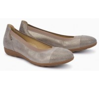 Mephisto Elettra leather ballet pumps for women grey
