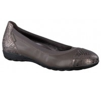 Mephisto Elettra leather ballet pumps for women dark grey