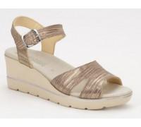 Mephisto Elisabeth leather sandals for women bronze