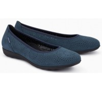 Mephisto Elsie Perf leather ballet pumps for women blue
