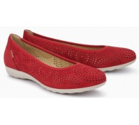 Mephisto Elsie Perf leather ballet pumps for women red