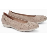 Mephisto Elsie Perf leather ballet pumps for women taupe