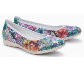 Mephisto Emilie leather ballerina multicoloured