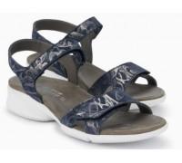 Mephisto FRANCESCA leather sandals for women blue