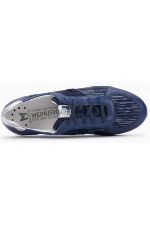 Mephisto Madalena leather laceshoe for women blue