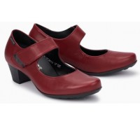 Mephisto Mylene leather pumps for women red