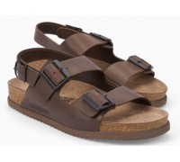 Mephisto Nardo leather sandals for men dark brown