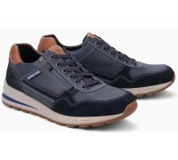 Mephisto BRADLEY leather sneakers for men blue