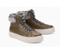 Mephisto Ginou Nana leather lace shoe boots women brown