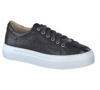 Mephisto Gyna Perf Silk black leather lace shoe women