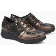 Mephisto JILL Ceylan leather women lace shoe copper