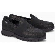 Mephisto Loriane leather black slip-on shoes women