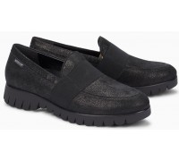 Mephisto Loriane leather black slip-on shoes women