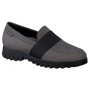 Mephisto Loriane leather grey slip-on shoes women