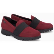 Mephisto Loriane leather red slip-on shoes women