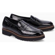 Mephisto Sidney patent leather black slip-on shoes women