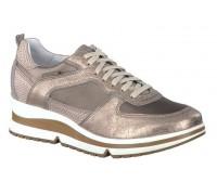 Mephisto Vicky Ice platinum leather lace shoe women