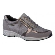 Mephisto Ylona dark grey leather lace shoe women