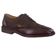 Mephisto PAOLINO SUPREME dark brown suede and leather combi  GOODYEAR WELT