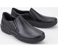 Mephisto ADELIO black leather slip-on shoes for men