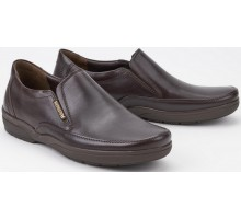 Mephisto ADELIO dark brown leather slip-on shoes for men