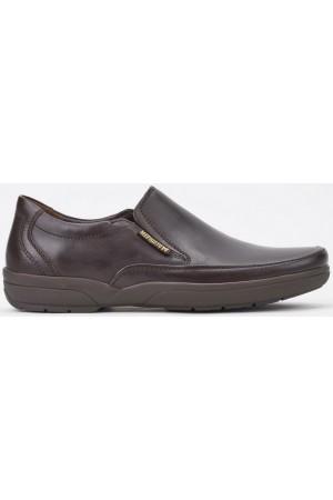 Mephisto ADELIO dark brown leather slip-on shoes for men