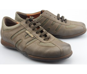 Mephisto AGATINO dark taupe grey leather sneaker for men